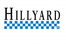 Hillyard logo with blue checkerboard