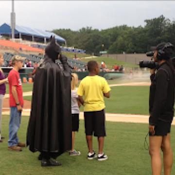 Batman at a Bowie Baysox game