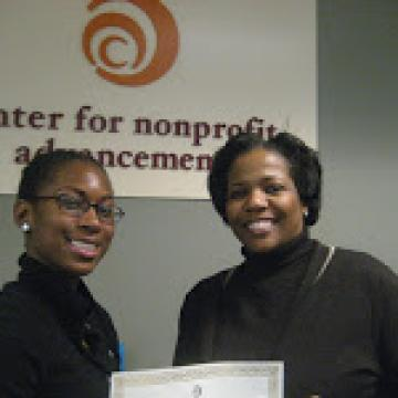 Queshia Bradley of ACE graduating Project LEAP