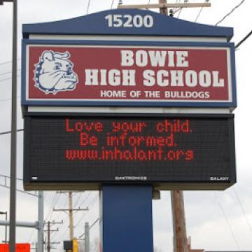Bowie High School Electronic sign