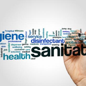 Word cloud of hygiene words